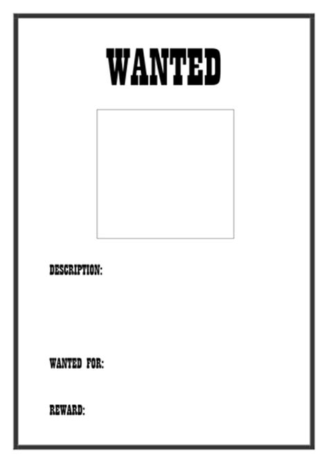 Wanted Poster Template By Dreamingisfree Teaching Resources Tes Wanted Poster Template Free Printable