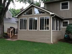 Three Season Rooms Pictures This Outdoor Living Deck And 3 Season Room Combination In