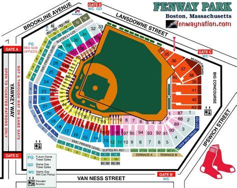 fenway seating chart