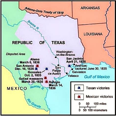 texas revolution map 1836 poor william s almanack march 2 2015 free will