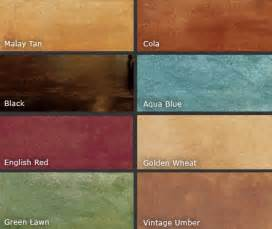 concrete acid stain color chart acid stained and color dyed garage floors all garage floors