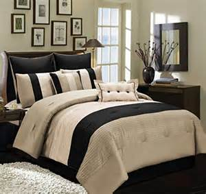 Washable Silk Duvet Cover 8 Pc Beige Taupe And Black Faux Silk Full Comforter