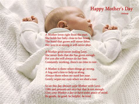 baby s s day poem 25 mothers day poems to touch mothers