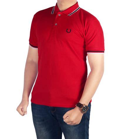 Kaos Polos Hitam Kerah Tinggi cek harga baru dgm fashion1 baju kaos kerah polos merah