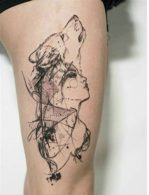 tattoo girl and wolf the 25 best wolf tattoos ideas on pinterest forest