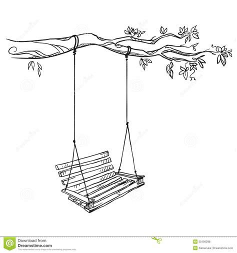Swing Illustration Tree With A Swing Stock Vector Image Of Tree Outdoor