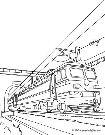 electric train coloring page old electric train leaving a tunnel coloring pages