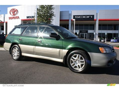 green subaru outback 2001 timberline green metallic subaru outback wagon