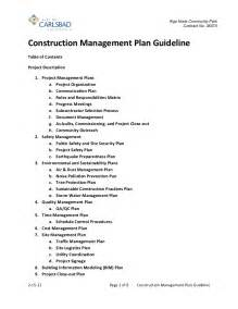 hazardous waste contingency plan template construction management plan guideline 2 15 12