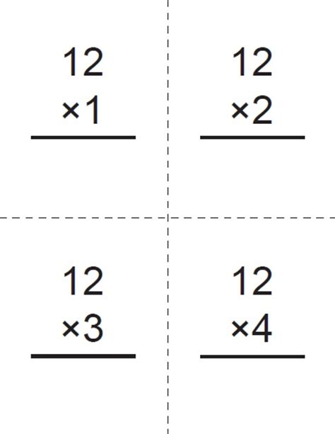 printable flash cards for six times multiplication tables craft n