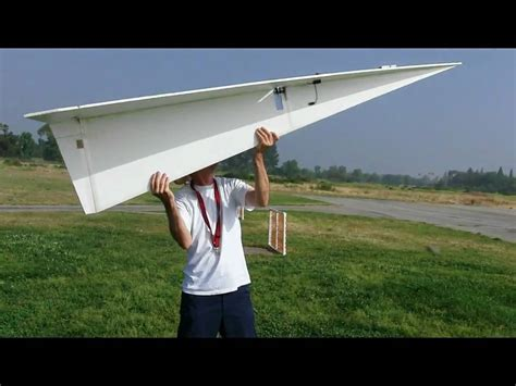 How To Make Rc Paper Plane - large flying rc paper airplane