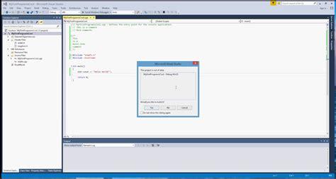 visual c tutorial microsoft 1 first c program using visual studio 2015 youtube