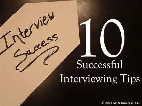 5 most successful job interview tips for job seekers