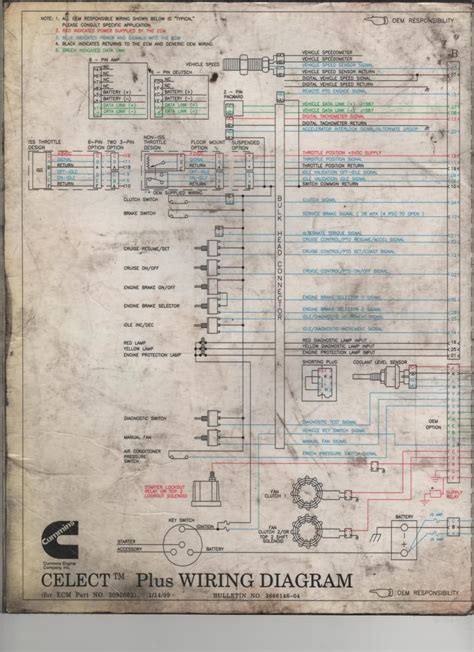 n14 mins celect schematic cummins n14 celect wiring