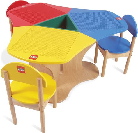 Kidkraft Lego Table With Stools by Lego Education Three Seat Playtable Solid Hardwood 6099591