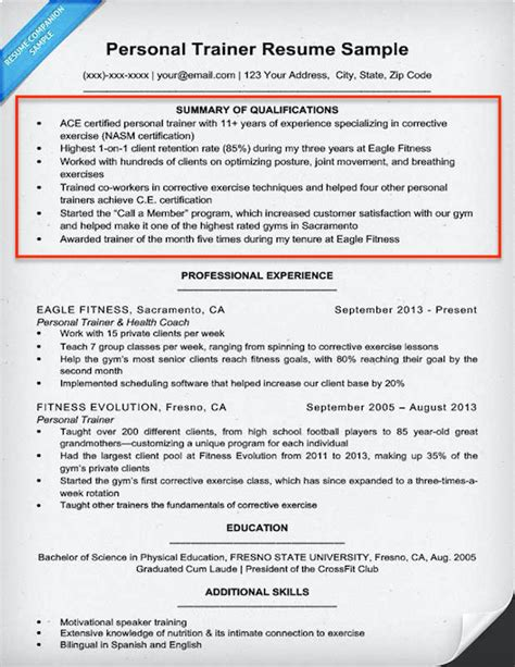 summary of qualifications resume example dogging 0f0ec2e90ab2