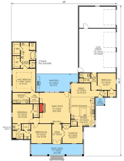 country style house floor plans best 20 acadian house plans ideas on square