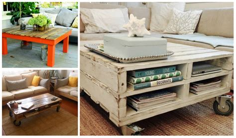 diy wooden pallet coffee tables diy thought