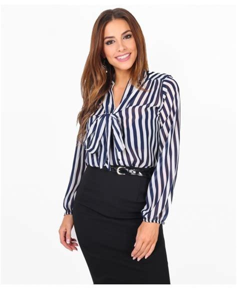 Chiffon Bow Blouse blouses polka dot and striped bow blouse krisp