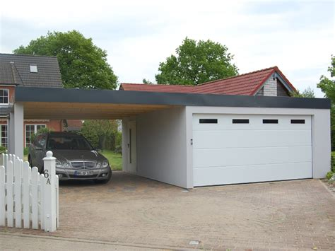 Carport Garage Kombination Holz by Garagen Carport Kombination Als Fertiggarage