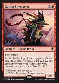 goblin spymaster  commander  spoiler