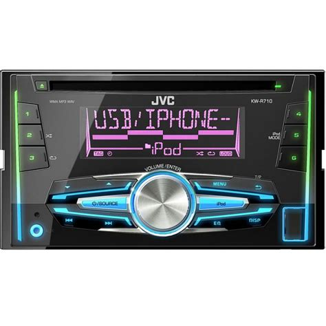 kw r710 din car stereo with front usb aux input iphon