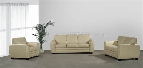 cream couch set cream bonded leather modern loveseat sofa set w options