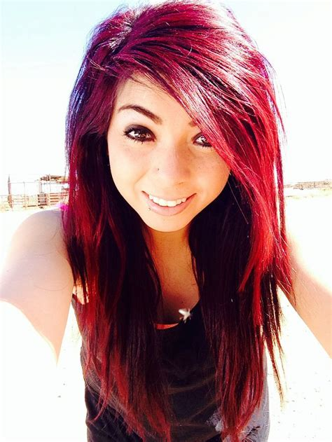 biracial hair color intense red and magenta mixed hair hair color styles