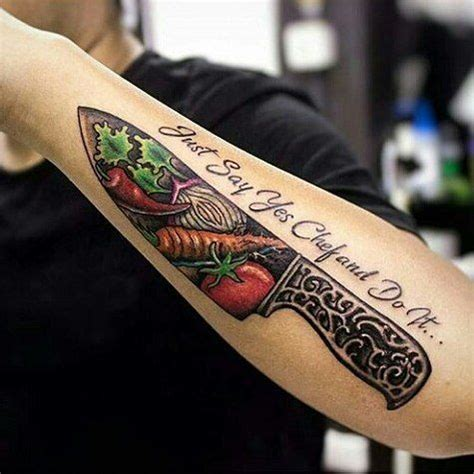 chef knife tattoo 87 best chef tats images on ideas chef