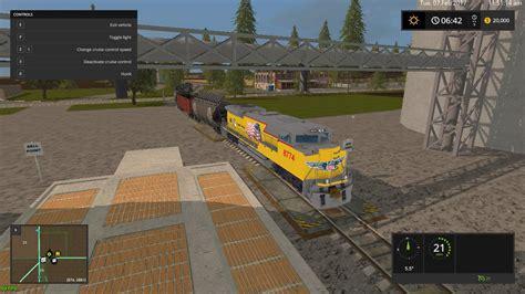 mod game site union pacific train v1 fs17 farming simulator 17 mod