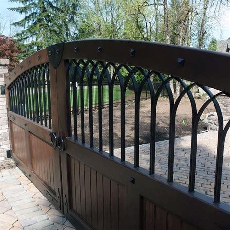 top   driveway gate ideas wooden  metal entrances