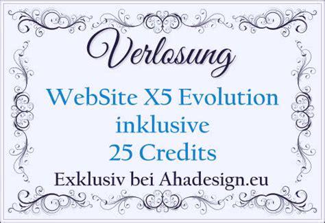 website  evolution inklusive credits fuer eine website