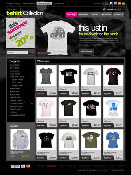 Shirts Website T Shirts 2 3ver Oscommerce Template Id 300111064 From