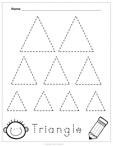 triangle pattern to trace grade year level primary education foundation
