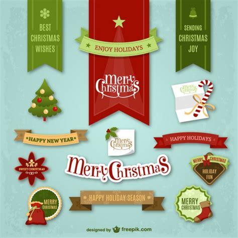 Aufkleber Weihnachten Kostenlos by Colorful Stickers Vector Free