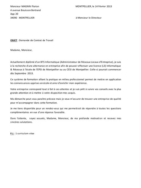 Lettre De Motivation Ecole En Alternance Lettre De Motivation Alternance Pdf Par Juju Fichier Pdf