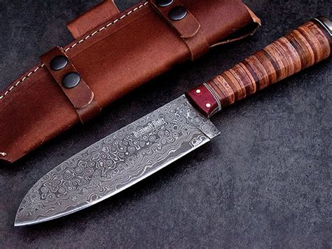 japanese handmade kitchen knives handmade raindrop damascus japanese santoku chef kitchen