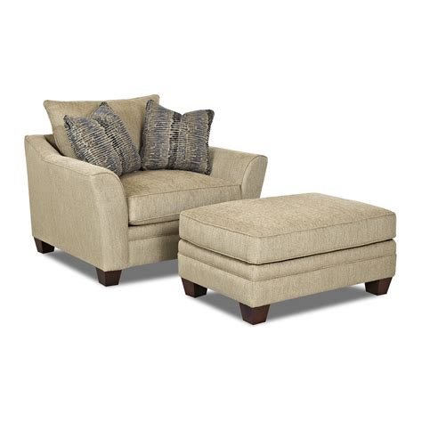 Bedroom Contemporary Height Back Upholstered Lounge Chair Club Chair And Ottoman Set