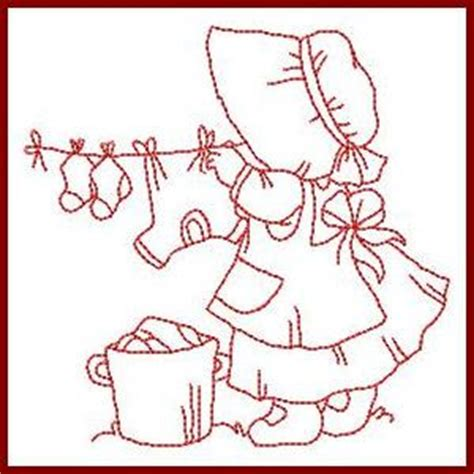 design pattern helper little helper sunbonnets free instant machine embroidery