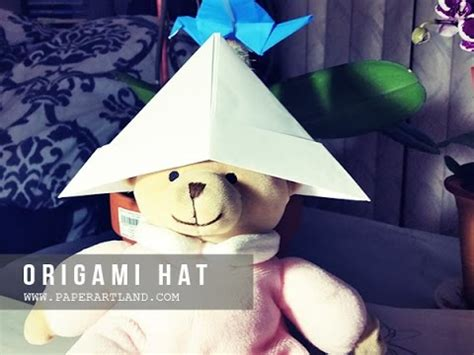 How To Make Paper Hats To Wear - origami for how to make a paper hat that you can