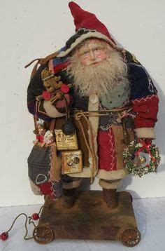 Handcrafted Santa Claus - handmade santa claus doll teddy by sweet s