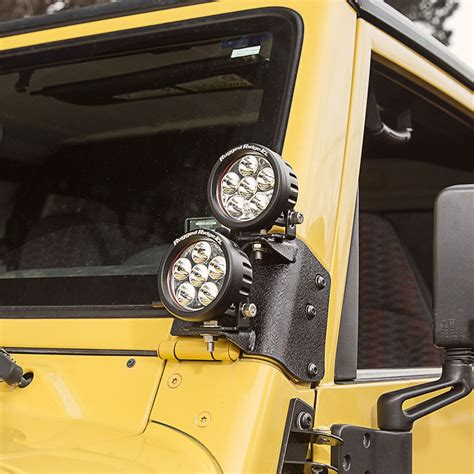 jeep accessories lights 11232 37 dual a pillar led kit 3 5 inch round led