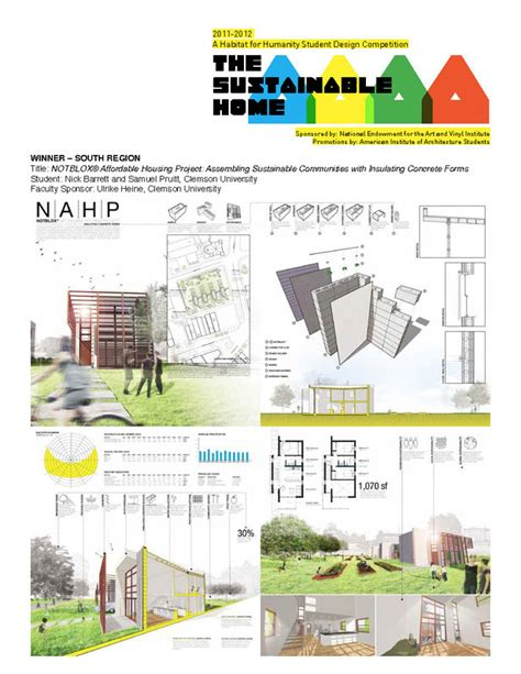 home design competition shows clemson graduate students win habitat for humanity s