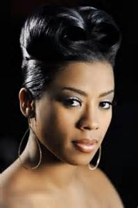 pictures of roll hairstyles for black keyshia cole with a french roll hairstyle african