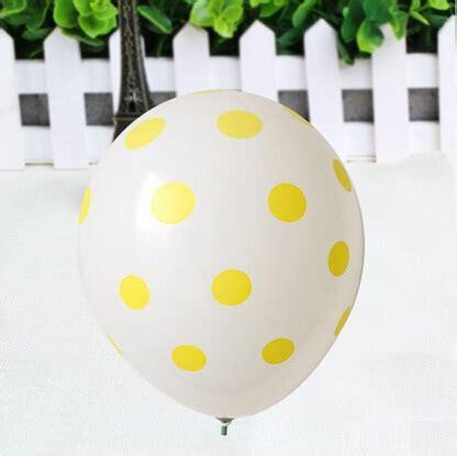 Sale Balon Polkadot Stik cheap 12 inch plain white with yellow polka dot balloons for sale bulk of 100
