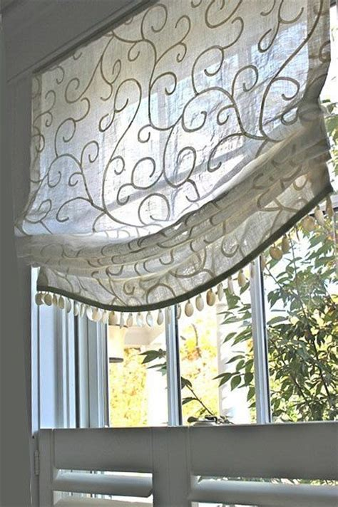 Flat Window Valance Flat Window Treatment Fabricated From Embroidered