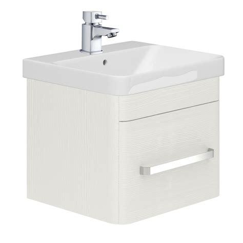 500 Vanity Unit by Esk Wall Mounted 500 Vanity Unit Basin White Easy