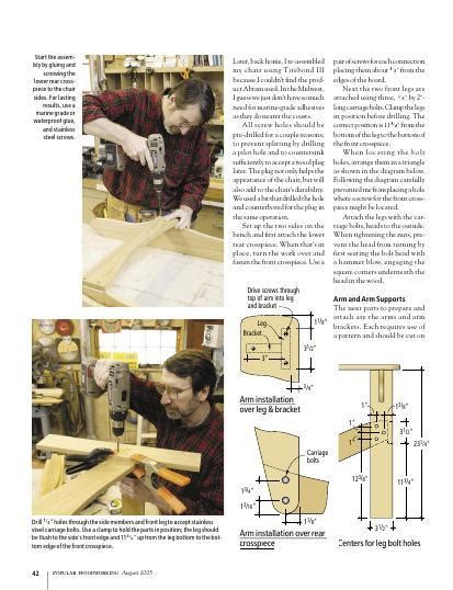 norm abrams adirondack chair woodworking project