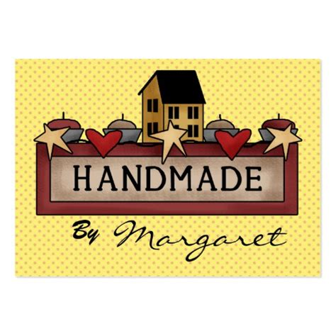 Business Cards For Handmade Crafts - handmade crafts knitting sewing large business cards