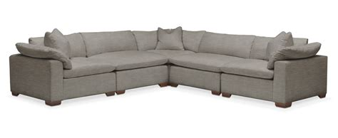 victory sectional plush 5 pc sectional in victory smoke american
